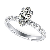 Alexis Pave Eternity Engagement Ring