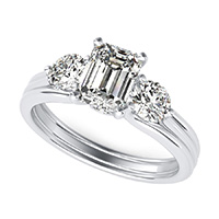 Hartine Three Stone Engagement Ring