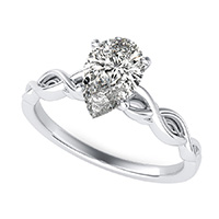Infinity Twist Solitaire Engagement Ring